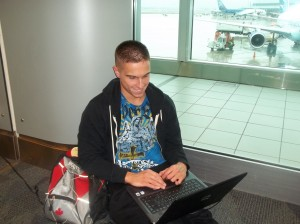 Typing Away at the Airport
