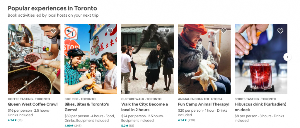 Popular Airbnb Experiences in Toronto